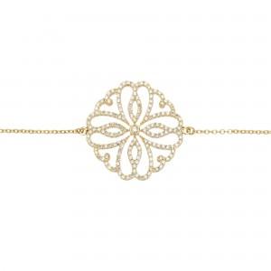 Hibiscus 手链:黄金、钻石