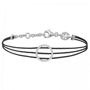 Bracelet 3 fils Argent et...